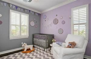 Zimmer Für Baby : fabelhafte inspiration kinderzimmer in lila und gute frische babyzimmer ideen f r gesunde ~ Sanjose-hotels-ca.com Haus und Dekorationen
