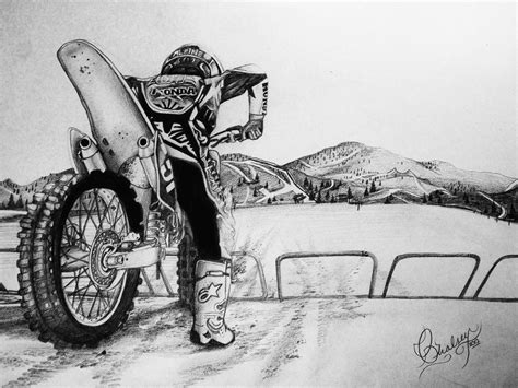 how to draw a motocross bike my pencil art of dirtbikes motocross and dirt bikes i