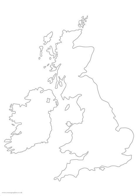 simplified large british isles map outline