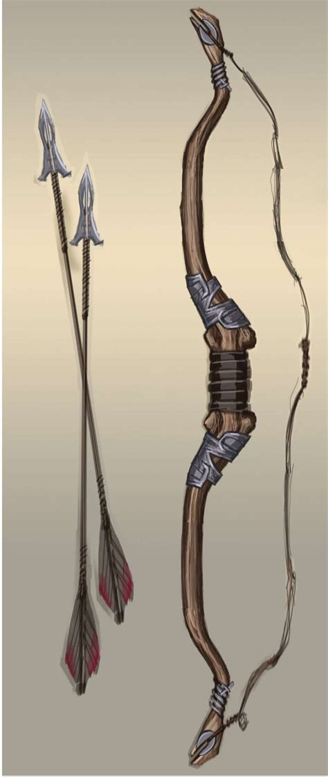 Steel Bow Concept Art From The Elder Scrolls V Skyrim By