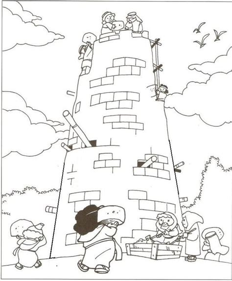 tower of babel coloring pages for genesis the 790 | 88646029f65f1e84d05822dd7b3f7015