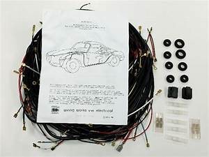 1968-1969 All Karmann Ghia Vw Complete Wiring Works Wire Harness Kit