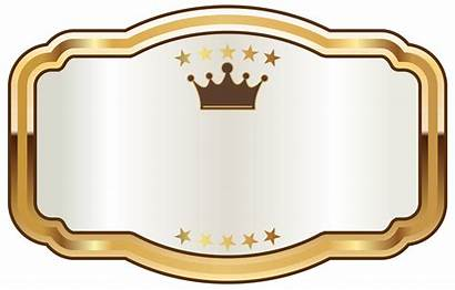 Label Crown Transparent Clipart Labels Banner Seal