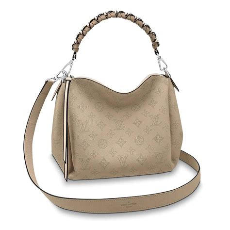 louis vuitton lv women babylone chain bb handbag  mahina perforated calf leather lulux