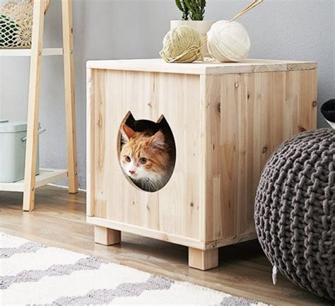 Wooden Cat House Pet Furniture Kitty's Home Condo Japanese