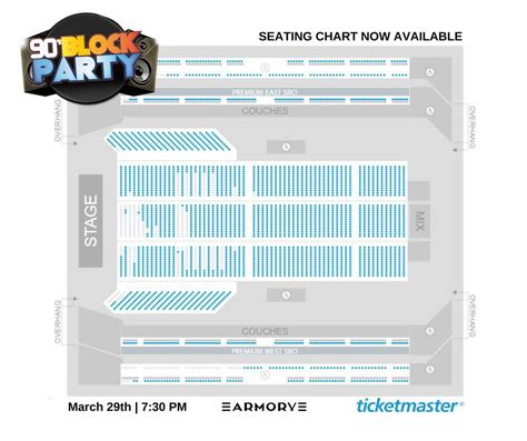 armory seating chart    block party