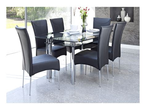 rectangle table with chairs glass dining table with black chairs whatever