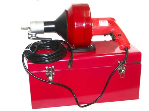 Snakes For Plumbing by H D Portable Electric Snake Drain Plumbing Cleaner Auger