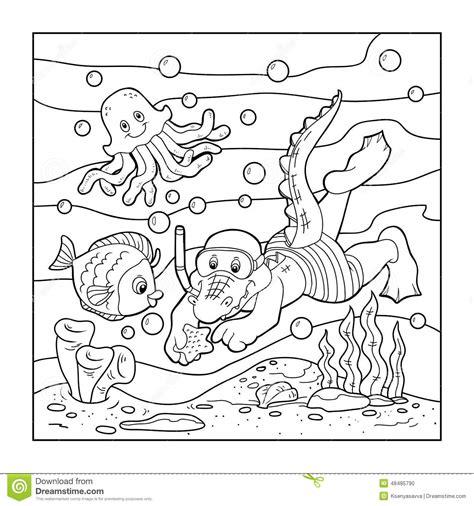 libro da colorare   bambini operatore subacqueo del