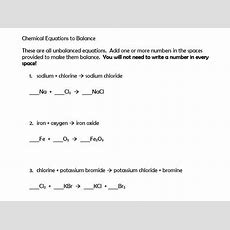 New Gcse Balancing Chemical Equation Examples By Viridovix2  Teaching Resources