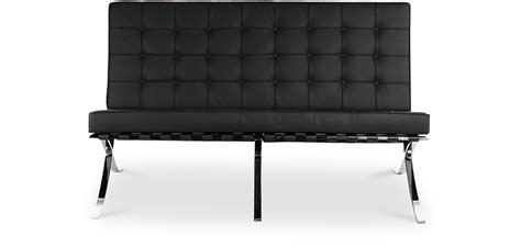 canapé faux cuir mies der rohe sofa design sofa ludwig style mies