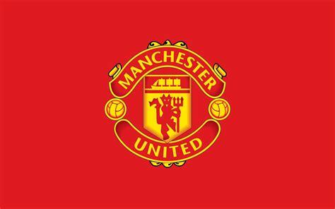 Manchester United, 4k, logo, red background   Manchester ...