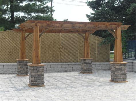 pergolas stone columns images  pinterest decks home ideas  outdoor ideas
