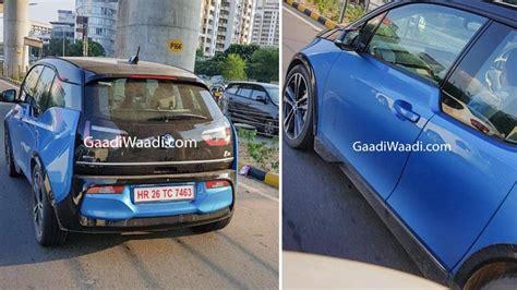 bmw  electric car spied testing  india  hr