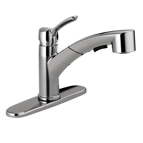 Sprayer Kitchen Faucet by Delta Cicero Single Handle Pull Out Sprayer Kitchen Faucet