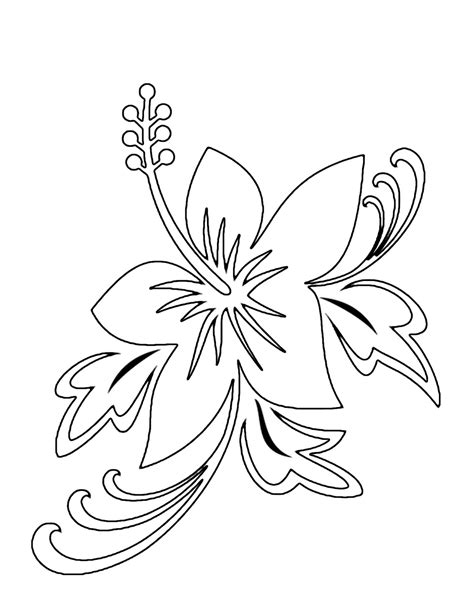 Tropical Flower Coloring Pages - GetColoringPages.com