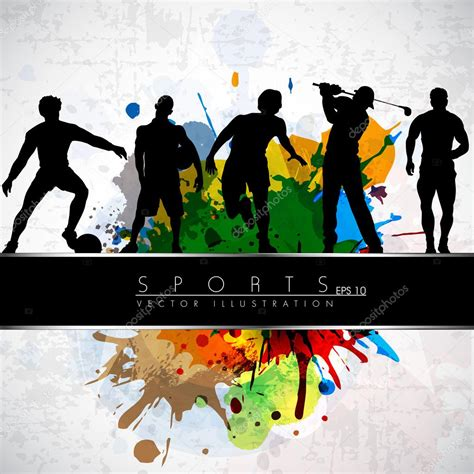 Sports Background Designs by Sports Theme Stock Vector 169 Alliesinteract 11211360