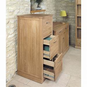 Mobel Oak Furniture 3 Drawer Filing Cabinet