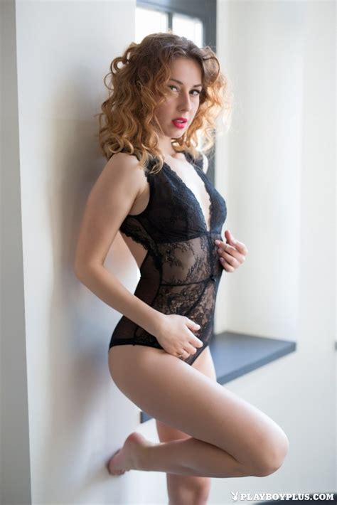 Diana Lark Gets Out Of Her Sexy Black Lingerie 1 Of 1