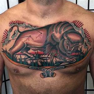 Best Bull Designs The 70 Best American Traditional Tattoos For Men Improb