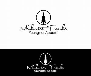 clothing logo design for midwest trends tagline With create logo for clothing line