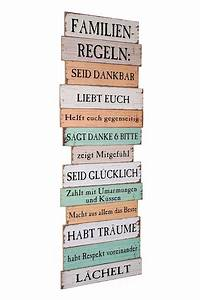 Sprüche Auf Holz : gro es holzschild holzbild wandbild mit familienregeln im shabby chic stil zum aufh ngen bunt ~ Orissabook.com Haus und Dekorationen