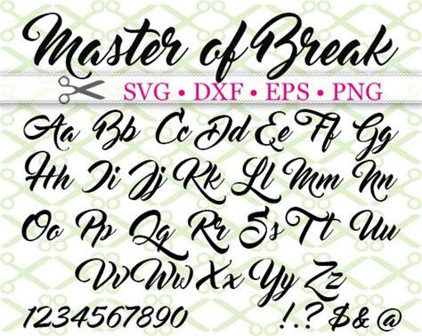 master  break svg font hand lettering alphabet tattoo