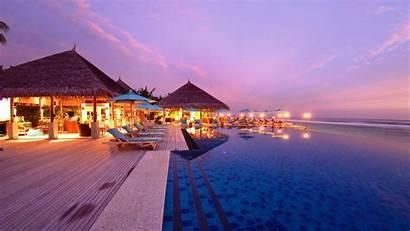 Wallpapers 4k Beach Ultra Desktop Resort Maldives