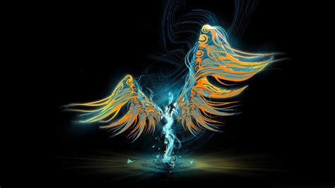 Cool Angel Abstract 1080p Wallpaper Wallpaperlepi
