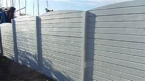 Plaque De Beton Pour Cloture Pas Cher : clotures beton prix pas cher ~ Dode.kayakingforconservation.com Idées de Décoration