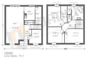 plan de maison etage 100m2