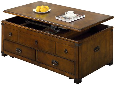 coffee tables that raise up rustic rectangle lift top coffee table with drawers