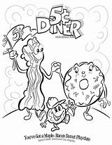 Coloring Donut Bacon Pages Printable Diner Nickel Clip Maple Getcolorings Dog Getcoloringpages Give Kitty sketch template