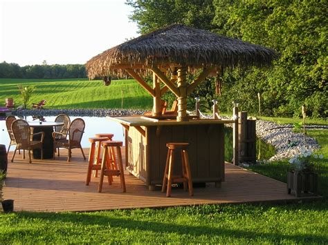 Make A Tiki Bar by How To Build A Tiki Bar In Your Backyard 2019 Mixture Home