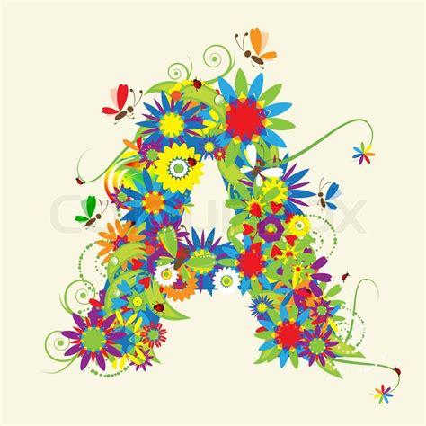 letter d floral design stock vector 169 kudryashka 3233753 letter a floral design see also letters in my gallery 40767