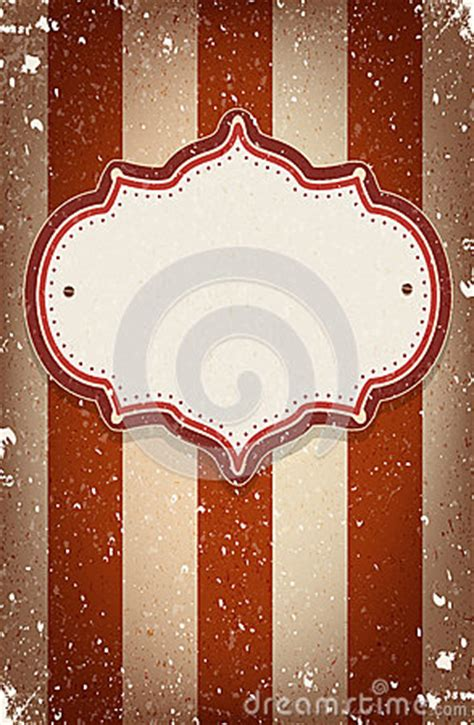 vintage vector circus inspired frame   space  text