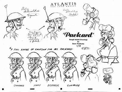 Disney Packard Wilhelmina Atlantis Character Animation Sheet