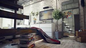 casual loft style living With interior design of house with loft