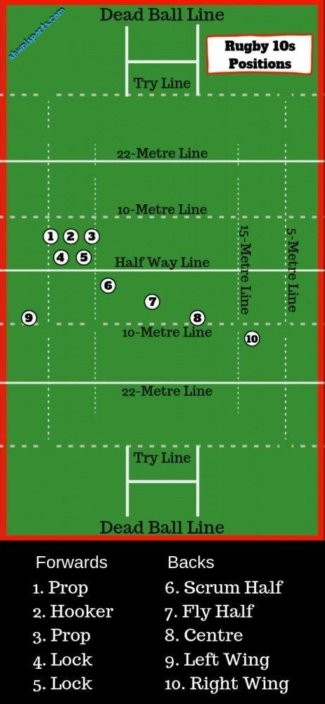 rugby  positions  numbers explained   diagram   rugby field rugby positions rugby
