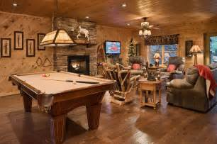 House Plans With Finished Basements The Retreat Rustic Basement By Log Homes Of America