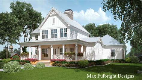 farmhouse building plans 2 house plan with covered front porch car garage