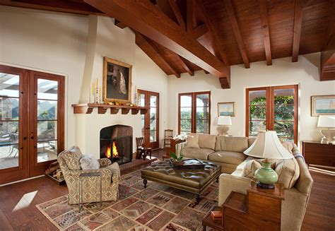 Hope Ranch Spanish Style Custom Home Family Room