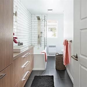 amenagement salle de bain en longueur maison design With amenagement salle de bain en longueur