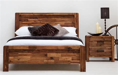 6926 rustic wood bed frame charlwood solid wood bed