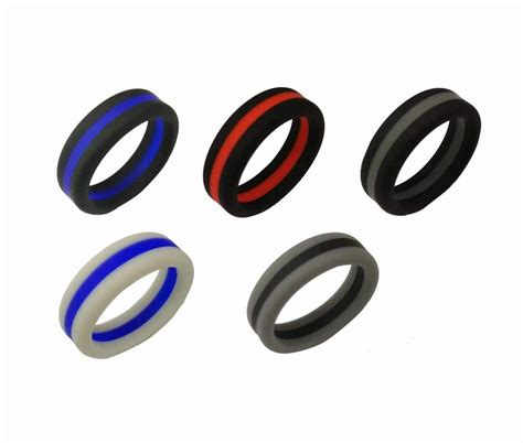8mm width silicone rings singles rubber wedding bands wholesalekings