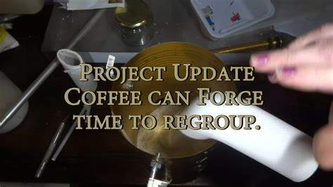 You can use a map torch as the burner or a. COFFEE CAN FORGE UPDATE 2-- Time to regroup.. - YouTube
