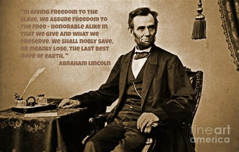 Abraham Lincoln On Slavery And Democracy Photograph By