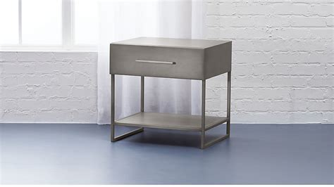 Metal Nightstand by Proof Metal Nightstand Reviews Cb2