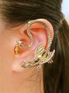 pierced ears without earrings items similar to ear wrap ear cuff of