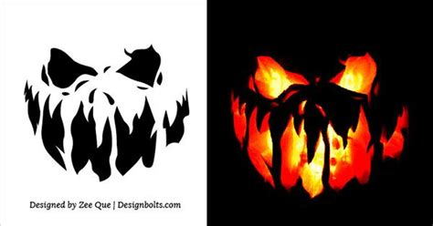Free Scary Halloween Pumpkin Carving Stencils, Patterns ...